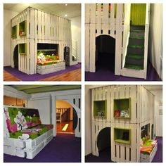 DIY Inspiration: Pallet Play House  I wish I were even mildly handy enough to attempt building this