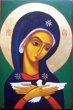 Abstract Face Art, Angel Art, Christian Art, Religious Art, Virgin Mary, Madonna, Notre Dame, Nativity, Icon Book