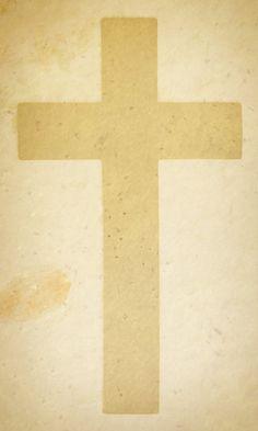 A Christian cross on a vintage papier texture.