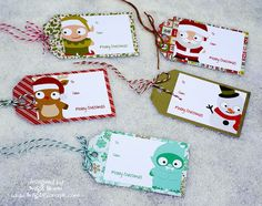 Christmas Tags with Cuties! SVGCuts, Trendy Twine, Tags,
