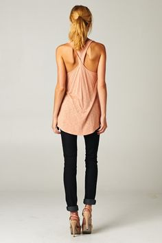 Racerback Henley Tank on Emma Stine Limited