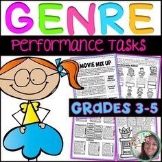 Genre Performance Tasks Printables~ Perfect for enrichment