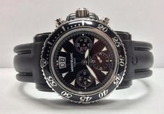 a448f70511d MONTBLANC FLYBACK SPORTS CHRONOGRAPH AUTOMATIC WATCH Water resistant 200m