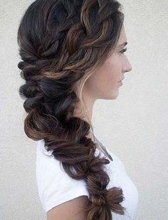 47 Elegant Ways To Style Side Braid For Long Hair side braid hairstyles, braid hairstyles, wedding hairstyle, boho hairstyles, party hairstyles Wedding Guest Hairstyles Long, Bridal Hairstyles With Braids, Side Braid Hairstyles, Long Hair Wedding Styles, Pretty Hairstyles, Long Hair Styles, Boho Hairstyles, Updos, Side Braid Wedding