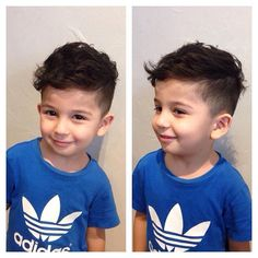 cute curly boy cut