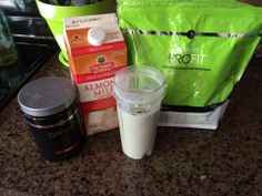 -2 scoops of berry greens  -6 ounces of Vanilla Almond Milk -1 scoop of Vanilla ProFit Protein  -2 spoonfuls of strawberry yogurt  -4 ice cubes  Blend and enjoy!!!! angiemjames.myitworks.com