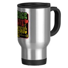 Rasta PEACE-LOVE-MUSIC Coffee Mug