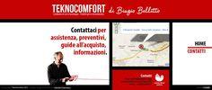 """Ideazione, Progettazione e Sviluppo Sito Statico Versione """"Slim Color"""" """"http://www.teknocomfort.com/ (Potenza - TeknoComfort - Prodotti per la termoidraulica)"""". Contatti"""