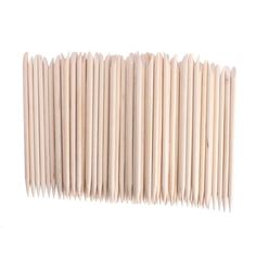 JOVANA 100 pcs Nail Art Orange Wood Sticks Cuticle Pusher Remover Manicure Pedicure Tool 120mm