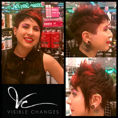 Here's a red-hot color…and cut! Jasmine took this cut and style by Vance up a notch with highlights of red that will stand out in the crowd. Cut And Style, San Antonio, Jasmine, Crowd, Houston, Salons, Highlights, Stylists, Texas