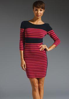 SONIA BY SONIA RYKIEL Milano Striped Long Sleeve Dress in Pivoine/Rose/Navy at Revolve Clothing - Free Shipping!