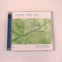 Calming 2-CD SetSoft and soothing, classical 50-70 beat music for slowing down and rebalancing in the classroom, clinic or at home. Based on the works of Dr. Alfred Tomatis, this 2-CD set features soft and sweet classical music that naturally slows down the heartrate and unwinds the mind through simplified harmonies and a process of decreasing tempos. Solo piano and trios by Vivaldi, Bach, Mozart, Schubert, Ravel ,etc. $24.99