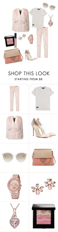"""""""Untitled #207"""" by jbillington ❤ liked on Polyvore featuring AG Adriano Goldschmied, Hero's Heroine, Balmain, Gianvito Rossi, Christian Dior, Chloé, Marchesa, Miadora, Bobbi Brown Cosmetics and Armani Beauty"""
