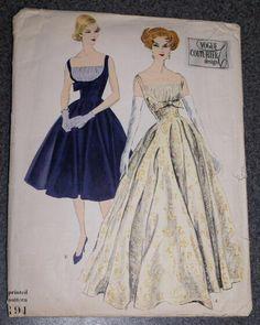 Vogue Couturier Design 191 circa 1961 dress