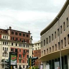 Colorfull architecture in Rome. Liberty style