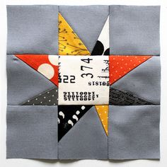 wonky star from  #comma fabrics