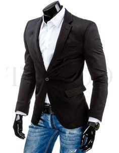 Pánské stylové sako - Lermont, černé Suit Jacket, Blazer, Suits, Jackets, Fashion, Down Jackets, Moda, Fashion Styles, Blazers