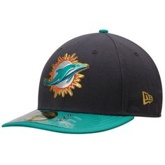 Men s Miami Dolphins New Era Graphite Gold Collection On Field Low Crown  59FIFTY Fitted Hat 1a981294b