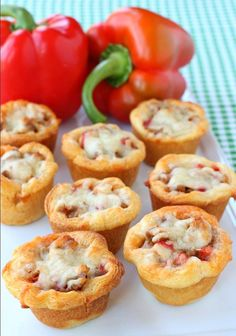 Sausage and Pepper Crescent Cups are a perfect game day appetizer!