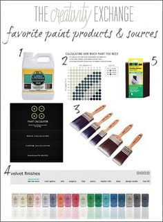 Favorite Paint Products and Sources {Paint It Monday} The Creativity Exchange