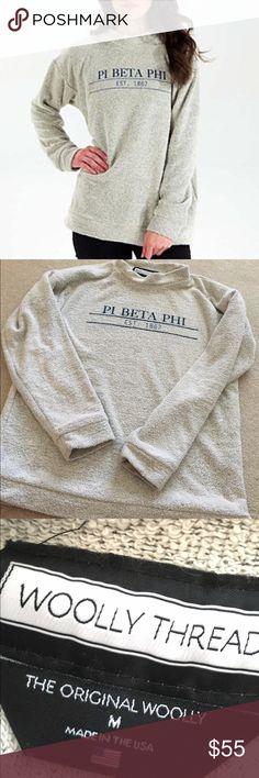 pi beta phi woolly sweater pi beta phi woolly sweatshirt size medium worn once or twice woolly threads Tops Sweatshirts & Hoodies
