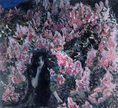 An astounding piece of art by Mihail Vrubel, Lilacs (/Syren)