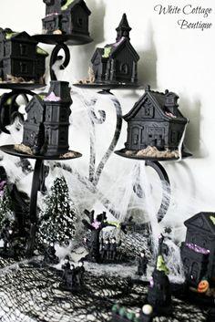 DIY Halloween Village