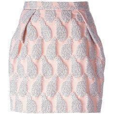 MSGM pineapple textured skirt ($260) ❤ liked on Polyvore featuring skirts, mini skirts, bottoms, faldas, saias, pink mini skirt, msgm skirt, pineapple skirt, pink pleated mini skirt and pleated mini skirt
