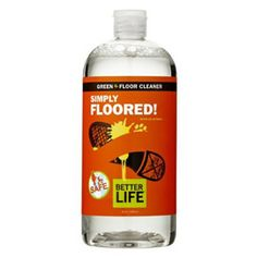 Do your spring cleaning naturally with Simply Floored! Green Floor Cleaner. $7.65 #mightynest