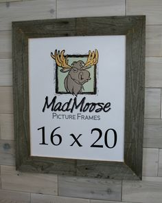 Barn Wood Picture Frame [style: Thin x 16x20 Picture Frame, Reclaimed Wood Picture Frames, Nail Holes, Frame Crafts, Weathered Wood, Canvas, Classic, Artwork, Boards