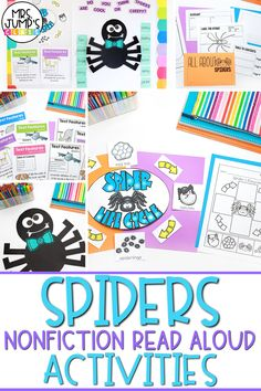 If you are doing a spider unit in your classroom, these spider nonfiction read alouds activities are a must! Students can learn all about spiders including the spider life cycle and other fun spider facts!