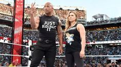 The Rock and Ronda Rousey confront The Authority