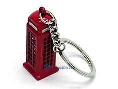 London Keyring World Famous Red Telephone Box Booth Souvenir Gift Key chain UK