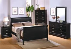 Home Design and Interior Design Gallery of Beautiful Black Bedroom Sets