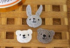 うさぎ・くまのしっかりモチーフの作り方|編み物|編み物・手芸・ソーイング | アトリエ|手芸レシピ16,000件!みんなで作る手芸やハンドメイド作品、雑貨の作り方ポータル