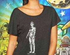Metropolis Maria Classic Robot Vintage Black Women's Dolman T-Shirt