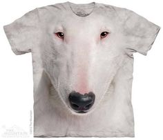 Bull Terrier Face T-shirt | Big Face Animals T-shirts | Dog Tees | The Mountain®