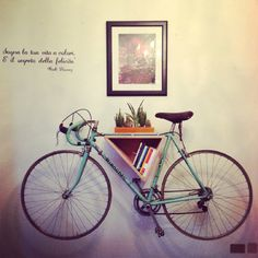New Bike Storage Diy Apartment Art Ideas Bike Storage Shelf, Bike Shelf, Bicycle Storage, Bicycle Rack, Diy Storage, Wall Storage, Storage Ideas, Bike Storage In House, Bike Hanger Wall
