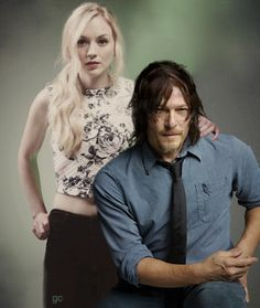 Norman Reedus. Emily Kinney. The Walking Dead. #gc Daryl Dixon. Beth Green. Bethyl Love.