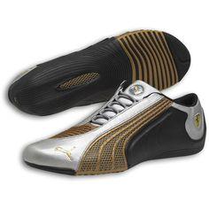 677a6a22915 Puma Ferrari Siluro SF Leather Shoes - Silver Black