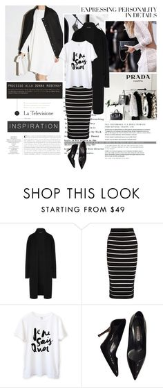 """""""Black & White"""" by emeliet ❤ liked on Polyvore featuring Vera Wang, Donna Karan, Balmain and Manolo Blahnik"""