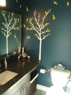 The Kind Of Tree I Want Painted In Bird Themed Bathroom Except Teal