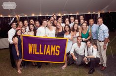 Williams College group photo at Torrey and Dicken's rustic backyard wedding in Stowe, VT... I'd say at least half of the wedding we photograph in New England we do these college group photos at!  So cool that these folks are all still so close...