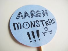 arghh monsters cupcake topper  www.thechubbybunny.ca