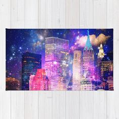 New York rug/NYC rug/throw rugs/purple by haroulitasDesign on Etsy