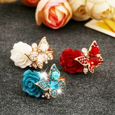 Flower Adjustable Rings for Women Fashion Butterfly Elegant Jewelry Ruby Rings Bague Femme Wedding Cocktail Party Rings♦️ SMS - F A S H I O N 💢👉🏿 http://www.sms.hr/products/flower-adjustable-rings-for-women-fashion-butterfly-elegant-jewelry-ruby-rings-bague-femme-wedding-cocktail-party-rings/ US $1.61