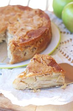 French Apple Custard Cake