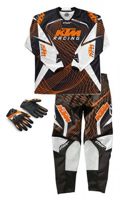 2012 KTM Phase Pants/Jersey/Glove Combo. New gear for SX/MX/SM