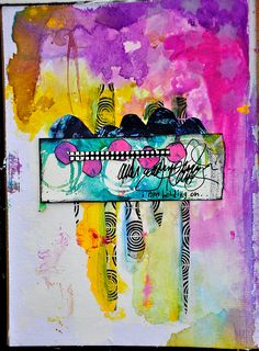"""Stampington and Co.   - """"I have always secretly wanted to be an abstract expressionist. I love the power and energy of a single, expressive brushstroke. I like chaos tempered by design principles."""" See inside Dina Wakley's journals with her Artist Profile inside Art Journaling: https://stampington.com/Art-Journaling-Spring-2017"""
