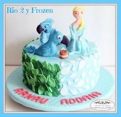 Atelier de Tartas#Tartas Decoradas Fondant Cumpleaños Frozen Rio II#Tartas Personalizadas Fondant#Decorated Fondant Birthday Cakes